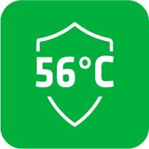 Функция 56°C стeрилизация - Тази модерна функция позволява ефективното премахване на микроорганизмите, присъстващи в климатизираната стая. Въздухът във вътрешния топлообменник се нагрява до температура 56°C, което унищожава органичната ДНК и РНК на бактерии и вируси, включително SARS-CoV-2.