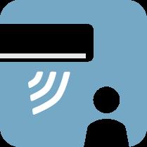 Температурен датчик - Температурният датчик е вграден в безжичното дистанционно управление, така че измерването на температурата може да се направи по-близо до потребителя и да се регулира по-точно оптимална температура на околната среда.
