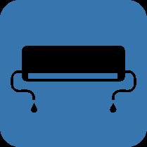 Двустранен монтаж - Възможност за монтаж на свързващите тръби за хладилен агент и дренаж от двете страни на вътрешното тяло