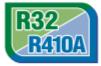 ФРЕОН R32 - R32 е хладилен агент от ново поколение, достигащ до 70% по-нисък потенциал за глобално затопляне от R410a. Той има 1,5 пъти по-голям потенциален охладителен ефект от R410a, което означава, че е нужна по-малко енергия, за да се постигне желаната температура и по-малко количество хладилен агент при работа.