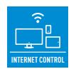 ИНТЕРНЕТ КОНТРОЛ (ОПЦИЯ) - Интернет контролът е следваща генерация система, осигуряваща на потребителя удобен контрол навсякъде, чрез използването на смартфон с Android или iOS, таблет или компютър свързан с интернет.
