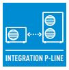 ВРЪЗКА СЪС СИСТЕМИ P-LINE - Интеграция със системи PACi и ECOi. Нова интеграция на домашна климатична система към P-Line. Възможност за свързване към P-line. Възможен пълен контрол.