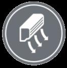 ПОЗИЦИОНИРАНЕ ПРИ МОНТАЖ - Може да настроите ляво-дясно въздушно струйните настройки, когато сте инсталирали климатика близо до стена чрез дистанционното управление.