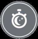Температурата в стаята автоматично се поддържа в определенен зададен предварително температуране диапазон в интервала от 30 до 240 минути, преди уреда да се изключи.