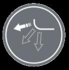 ПАМЕТ НА ВЪЗДУШНИТЕ КЛАПИ - Докато се движат клапите могат да бъдат спрени на желания ъгъл.